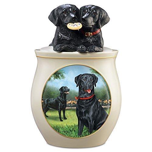 Black Lab Ceramic Cookie Jar<br>The Bradford Exchange <br>6-1/2