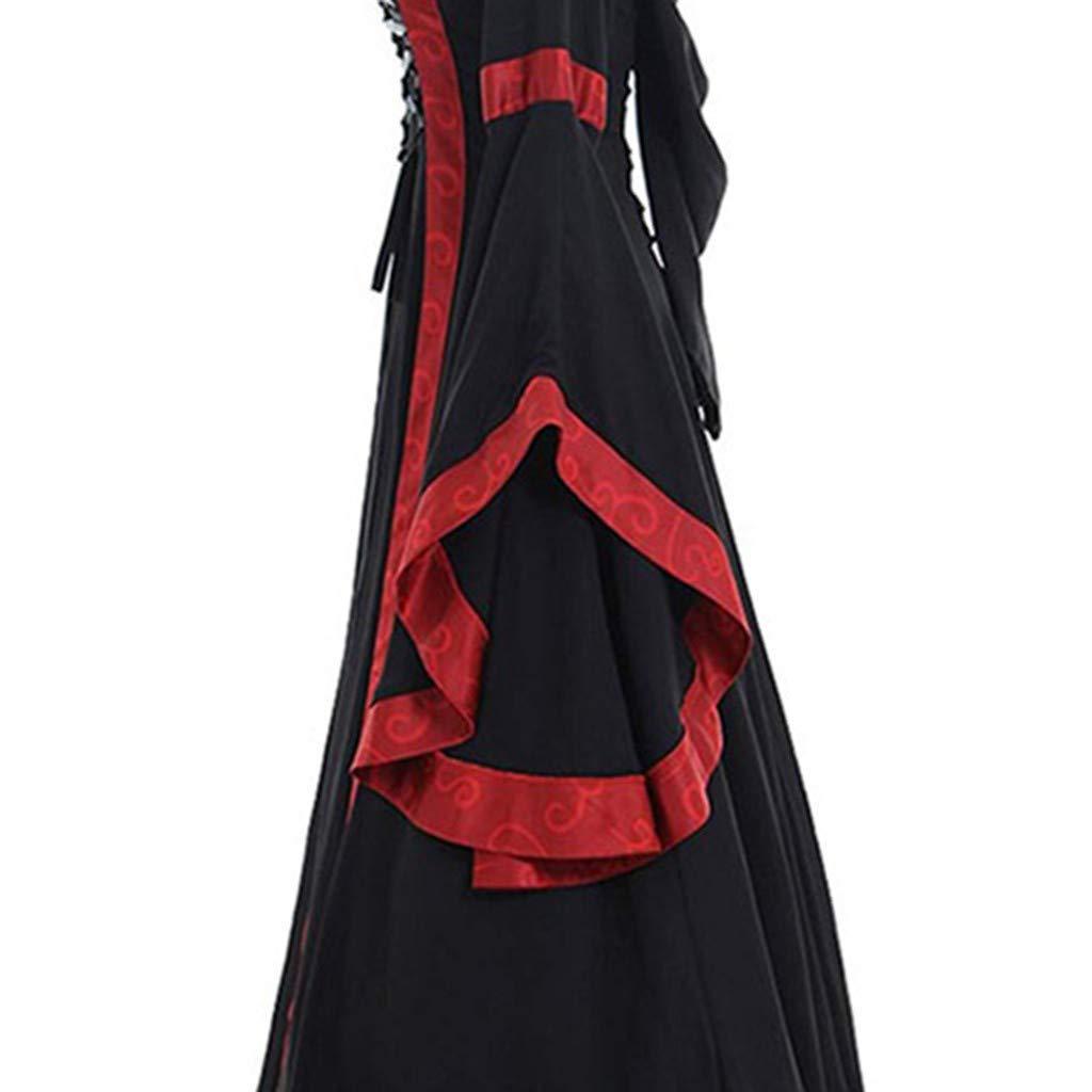 TOTOD Women Gothic Cosplay Dress Vintage Celtic Medieval Floor Length Renaissance Dress Victorian Dress Costume