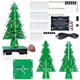 Aideepen 3D Christmas Tree LED Flashing Light DIY Kit 7 Colors LED Flash Circuit Kit without Batteries