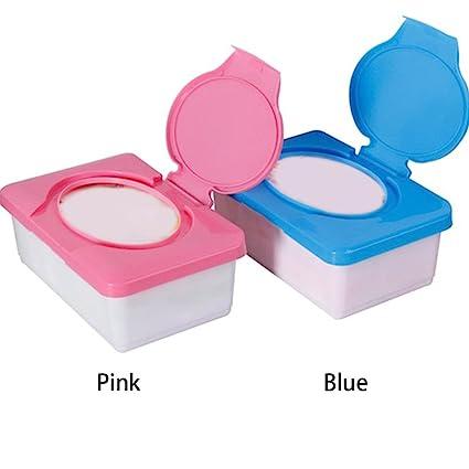 Soporte de plástico impermeable para pañuelos de bebé, dispensador de pañuelos para el hogar azul azul: Amazon.es: Bebé