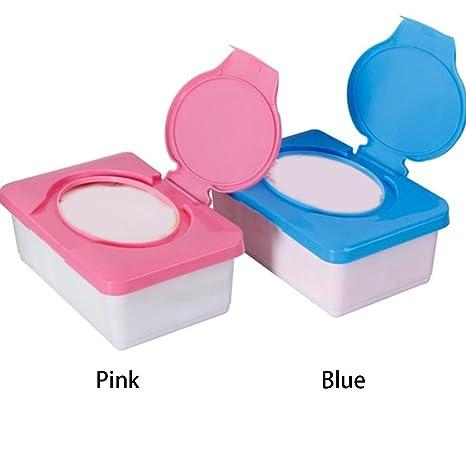 Caja de pañales para bebé, caja de pañuelos de plástico para viajes, dispensador de