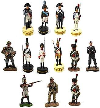 OPO 10 - Lote de 12 Figuras Soldados 1/32 60mm 1er Imperio Guardia Imperial Napoleon del Prado (LS8)