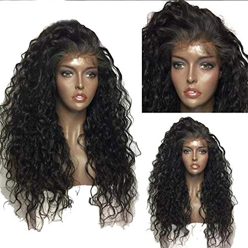 (130% Glueless Pre Plucked Lace Front Human Hair Wigs Curly Wig Peruvian Human Hair With Baby Hair,Natural)