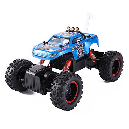 Liberty Imports R/C Rock Crawler King 1/12 Scale | All Terrain Radio Remote Control Car | 4x4 Wheel Drive Monster Truck Offroad Vehicle | RTR Batteries Included ()