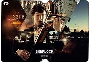 [PU del tirón del cuero] iPad mini 4 funda, iPad mini 4 Case, [Tema: Sherlock] - AK6588