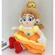 Super Mario Bros Princess Daisy Sitting soft Plush Stuffed Animals Doll Kids Toys 15 cm