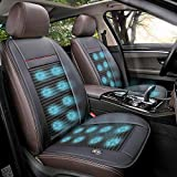 Doingart 1 Pack Cooling Car Seat Cushion - 12V Automotive Breathable Seat Cover with Air Conditioning System for Summer Driving - 3 Cooling Levels