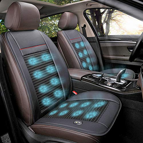 Doingart 1 Pack Cooling Car Seat Cushion - 12V Automotive Breathable Seat Cover with Air Conditioning System for Summer Driving, 3 Cooling Levels