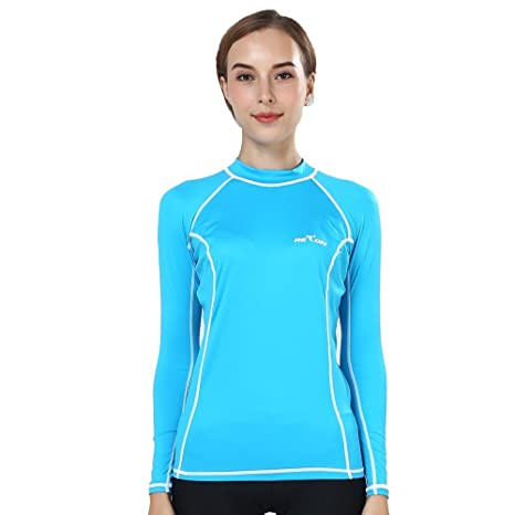 2a90946e987d2 Buy Realon Rash Guards Girls Fashion UV Resistant Swim Shirt Surf Top Wear Rashguard  for Women Online at Low Prices in India - Amazon.in