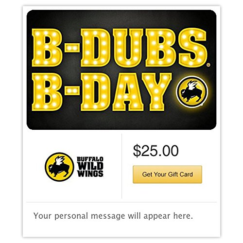 Buffalo Wild Wings Birthday Marquee Gift Cards - E-mail Delivery (Birthday Email)