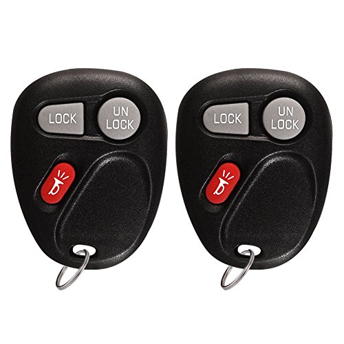 YITAMOTOR 2 Keyless Entry Remote Control Key Combo Cadillac Chevrolet GMC Replacement 3 Button for KOBLEAR1XT 15042968