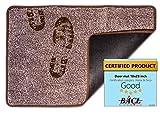 BRICOVEO Welcome Doormat Front Entry - Mud Indoor Door Mat 18x28 Inch - Ultra Absorbent Door Mat - Thin Doormat with Non Slip PVC Backing - Easy Clean - Ideal for Home Entrance, Garage, Office