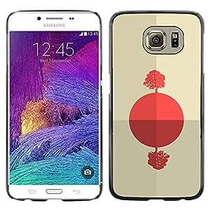 Caucho caso de Shell duro de la cubierta de accesorios de protección BY RAYDREAMMM - Samsung Galaxy S6 - Salida del sol africana abstracta