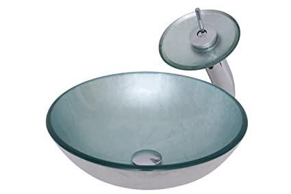 novatto argento glass vessel bathroom sink set chrome amazon com rh amazon com bathroom sink stopper bathroom sinks at b&q