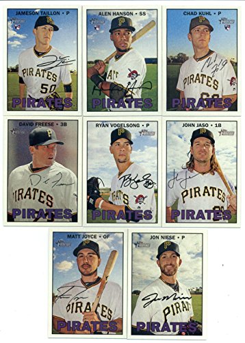 2016 Topps Heritage High Number Pittsburgh Pirates Team Set of 8 Cards in a Sealed Team Bag which includes: Jon Niese(#552), Matt Joyce(#554), David Freese(#561), Ryan Vogelsong(#562), John Jaso(#570), Jameson Taillon(#630), Alen Hanson(#651), Chad Kuhl(#668)