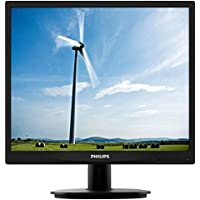 Philips 19S4LSB5 S-line - LED monitor - 19 inch - 1280 x 1024 - 250 cd/m2 - 1000:1 - 5 ms - DVI-D, VGA - textured black with black stand