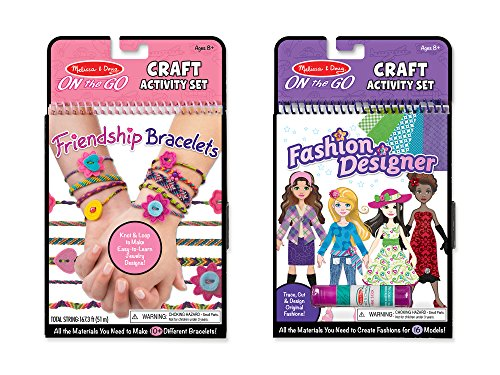 Melissa & Doug On the Go Craft Activity Sets - Friendship Bracelets and Fashion ()