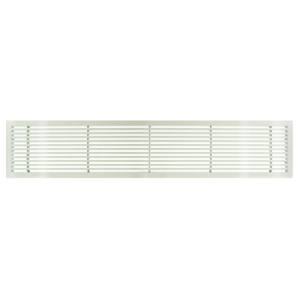 Architectural Grille 200062403 AG20 Series 6'' x 24'' Solid Aluminum Fixed Bar Supply/Return Air Vent Grille, White-Gloss