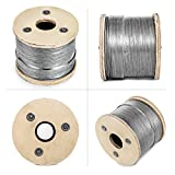 Mophorn T316 Stainless Steel Cable 1/8Inch 7x7 Steel Wire Rope Cable 500ft Cable Railing for Railing Decking DIY Balustrade (500ft)