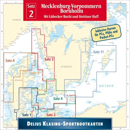 Delius Klasing Sportbootkarten CD-ROM / Mecklenburg-Vorpommern - Bornholm: Mit Lübecker Bucht und Stettiner Haff