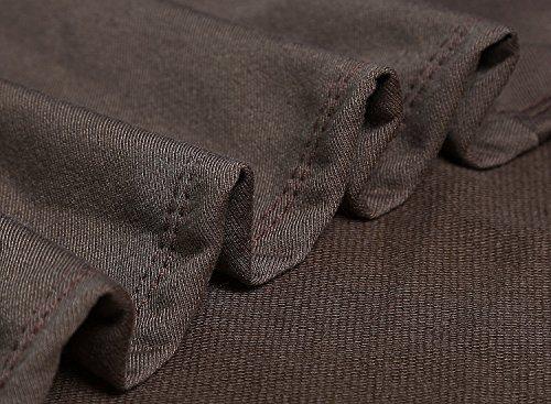 Dokotoo Womens Cotton Casual High Low Loose Long Sleev Tunic Sweatshirt Hoodies Pockets Brown