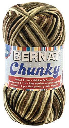 ky Ombre Yarn - (6) Super Bulky Gauge 100% Acrylic - 10.5oz -   Camouflage  -  Machine Wash & Dry (Bernat Camouflage Yarn)