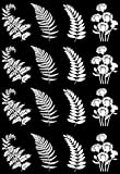 Fern Fronds White 16CC751 Fused Glass Decals