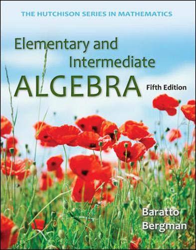 Elementary and Intermediate Algebra (Hutchison Series in Mathematics)