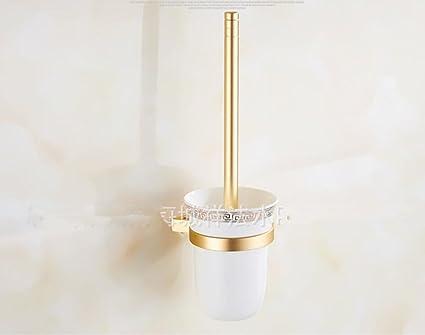Espacio aseos de aluminio y oro local wc portacepillos de cerámica accesorios de baño establecida portavasos