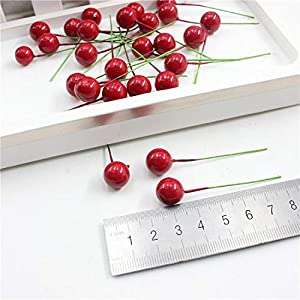 10pcs/lot Mini Artificial Plastic Fruit Small Berries Artificial Flower red Cherry Stamen Pearlized Wedding Christmas Decorative,Mushrooms Berries 5