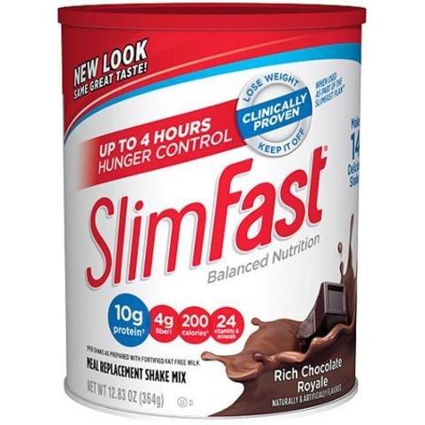 Slim Fast Rich Chocolate Royale Shake Mix Powder, Pack of 2 ,Slim-e4