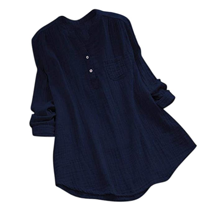 Suelto T-Shirt Tops Camiseta Ultra Mujer Camiseta Estampada De con Manga Larga ❤ Naturazy