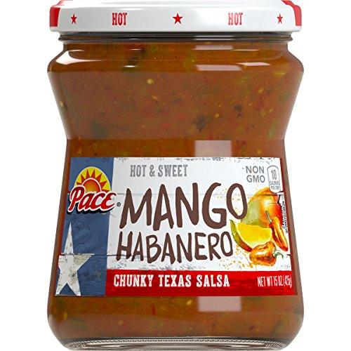 (Pace Mango Habanero Salsa, Hot, 15 oz. Glass)