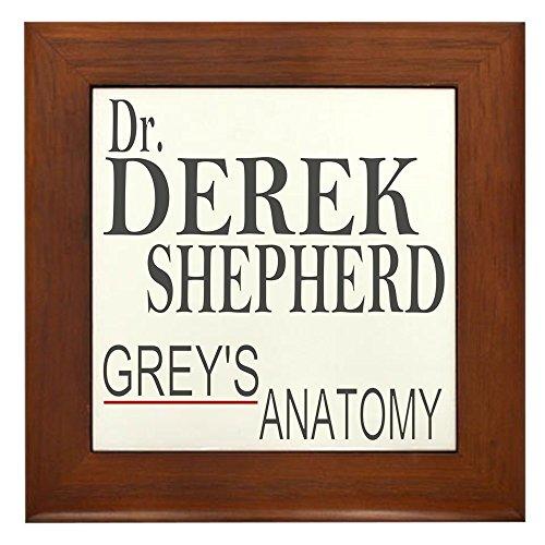 CafePress - Dr. Derek Shepherd - Framed Tile, Decorative Tile Wall Hanging ()
