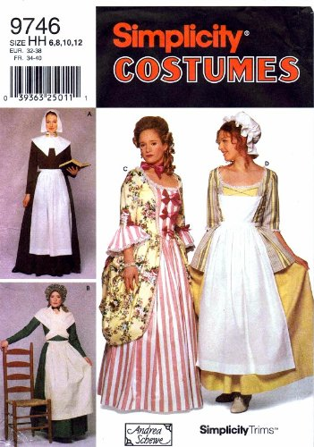 Amazon Simplicity 40 Sewing Pattern Womens Colonial Pilgrim Mesmerizing Simplicity Apron Patterns