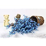 JAKY-Global-Babys-Breath-Fabric-Cloth-Artificial-Flowers-6-Bundle-European-Fake-Silk-Plants-Decor-Wedding-Party-Decoration-Bouquets-Real-Touch-DIY-Home-GardenBlue