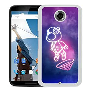 Host Sale Google Nexus 6 Case ,Fashion And Durable Designed With Kanye West Dropout Bear White Google Nexus 6 Cover