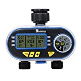Yardeen Dual Outlet Electronic Water Timer Irrigation Controller for Garden Yard Blue