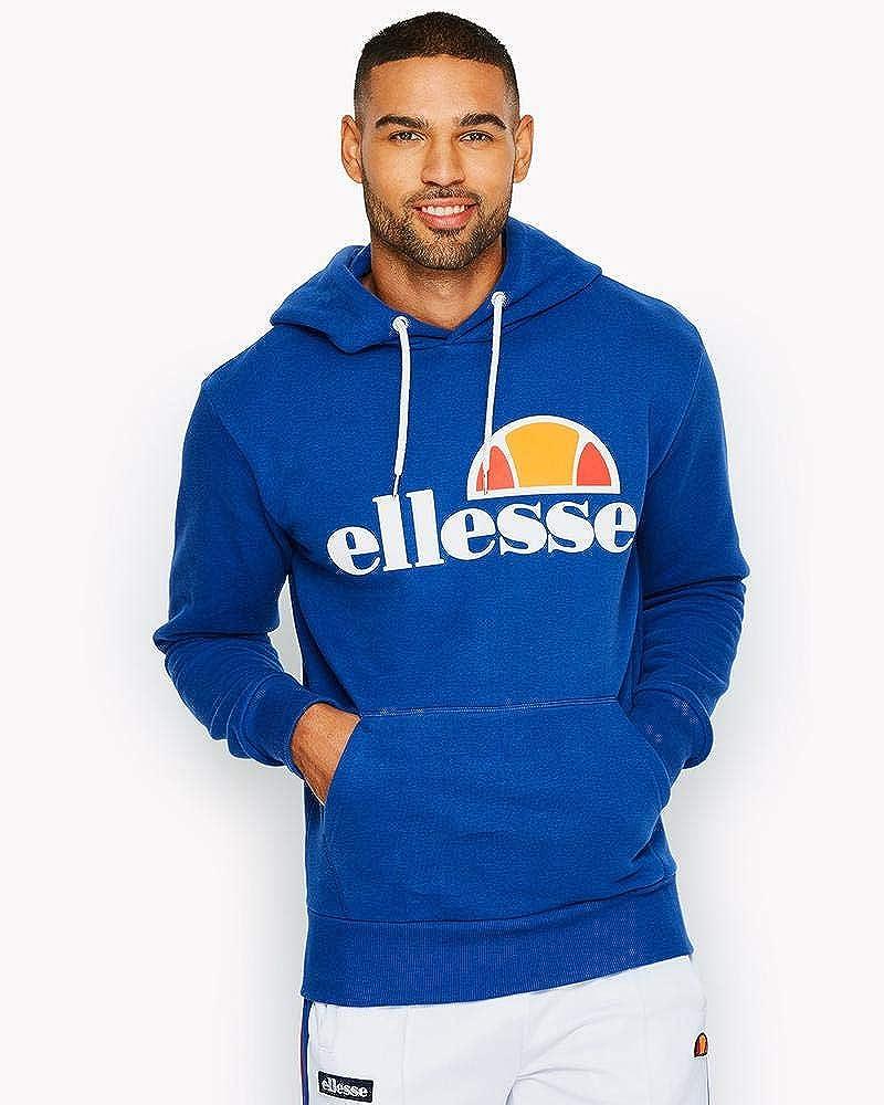 ellesse Herren Gottero Pullover Hoodie, Blau: Bekleidung