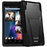 Fosmon HYBO-V Detachable Hybrid TPU + PC Kickstand Case for Google Nexus 7 FHD Tablet (2nd Generation, 2013) (Black / Black)