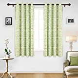 Deconovo Fashionable Geometric Curtain Panel Grommet Thermal Blackout Window Curtains for Bedroom 52W x 63L Inch Green 1 Pair For Sale