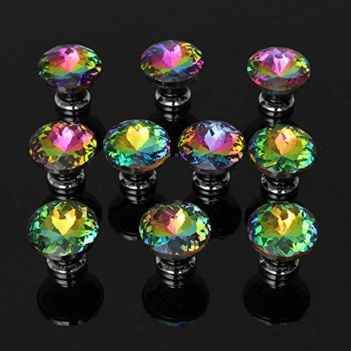 - Hot Sale 5pcs Hardware Colorful Crystal Drawer Door Knobs Cabinet Pull Handle