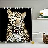 Leopard Shower Curtain Hookless