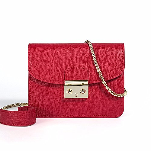 Lock 2018 red Square Bag Small Leather Satchel New Chain Women's Large Red Bag wXvxrq1ZX