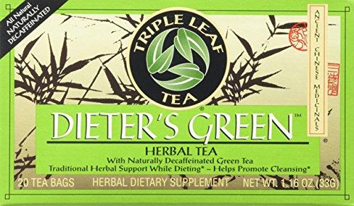 - Triple Leaf Teas - Dieter's Green Herbal Tea, 20 bag