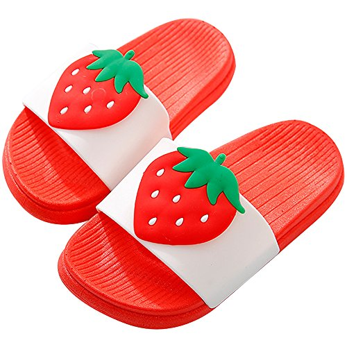 Fruit Beach Summer Qzbaoshu For Red Women Men Girl Slides Indoor Sandals strawberry Boy Slippers Bathroom Family w4PE4aq