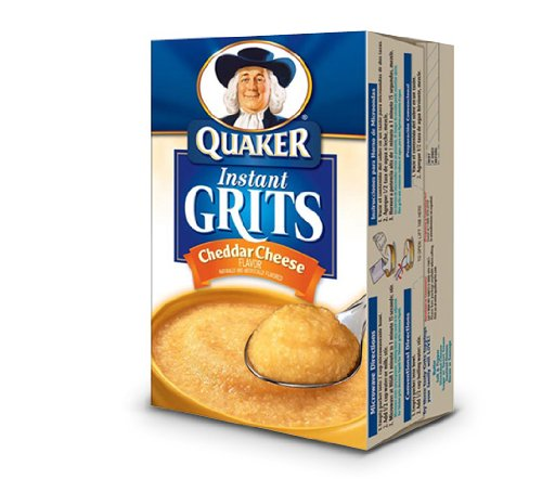 Quaker Instant Grits Cheddar Cheese Flavor 12 Servings
