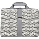 VanGoddy Argyle Gray Laptop Messenger Bag for Acer Chromebook / Aspire / TravelMate