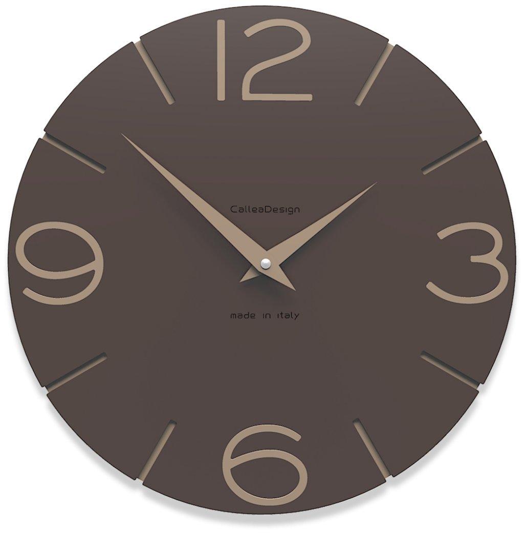 CalleaDesign 壁時計 Smile (チョコレート) B00ZC1WAW8 チョコレート チョコレート