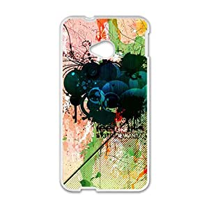 Charming Graffiti Pattern Hot Seller High Quality Case Cove For HTC M7